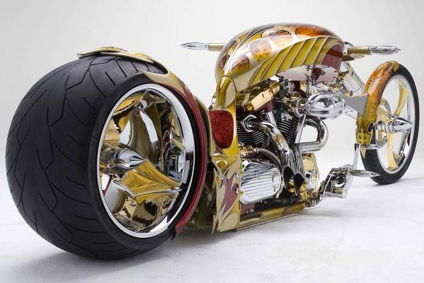 Gold plated custom chopper
